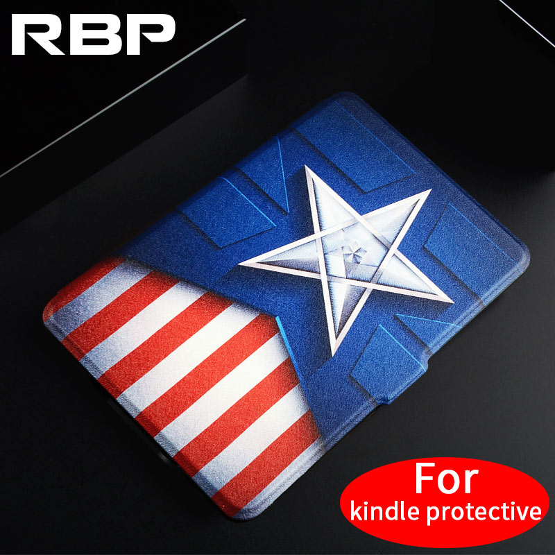 RBP for kindle protective case 6 inch for paperwhite1 2 3 E-book 958/899 shell for Amazon kindle paperwhite Cute leather case for amazon kindle paperwhite e book leather case print slim smart ebook cover for kindle paperwhite 3 e reader protective stand