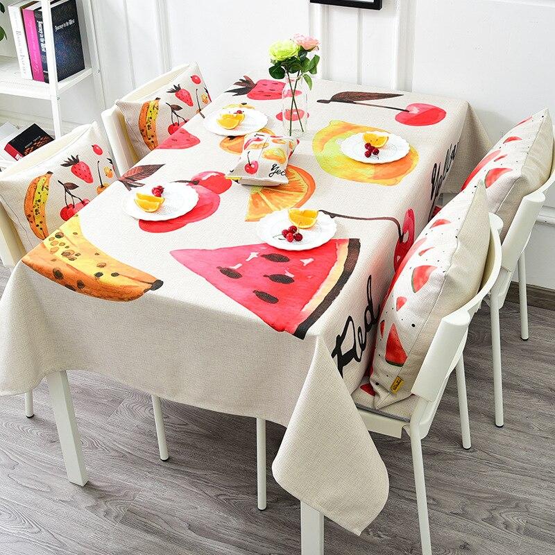 Фрукты белье хлопок Скатерти прямоугольник Кухня Кофе покрытие стола домашний отель партия Скатерти