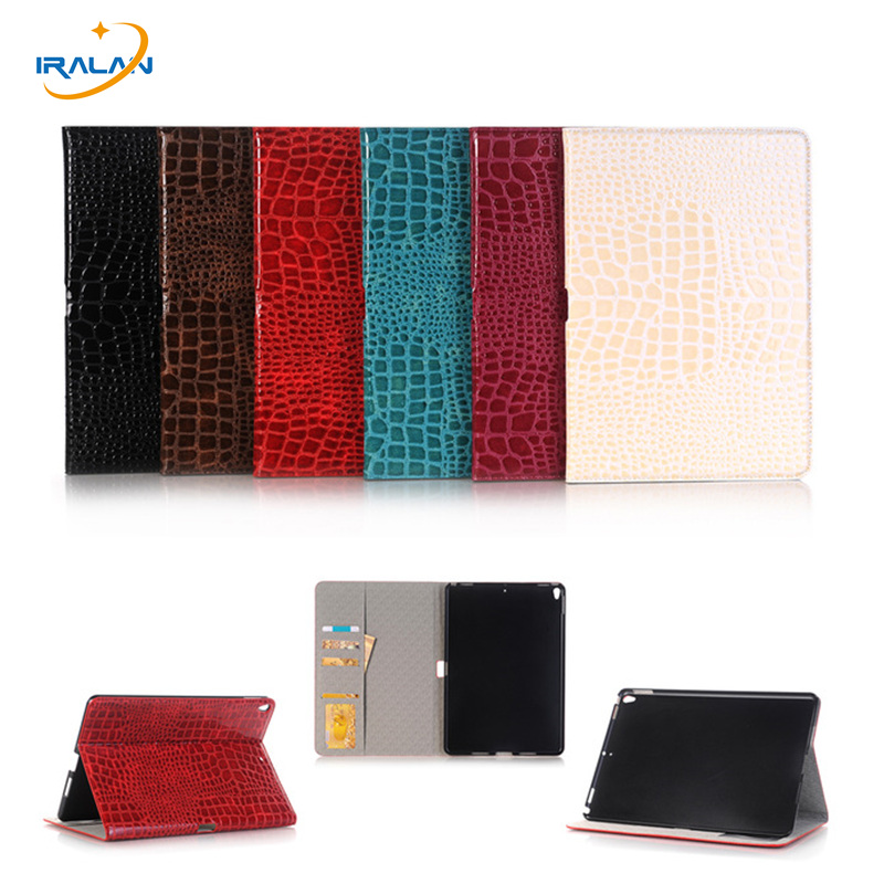 Flip Leather Smart tablet Cover for iPad Pro 10.5 Crocodile Pattern Anti Dust Case for iPad Pro 10.5 2017 new Released+film+pen