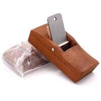 Borda de corte prático retro carpintaria avião manual ferramenta aparamento mão com 2.2*7.4 cm lâmina conjunto|Plainas manuais| |  -