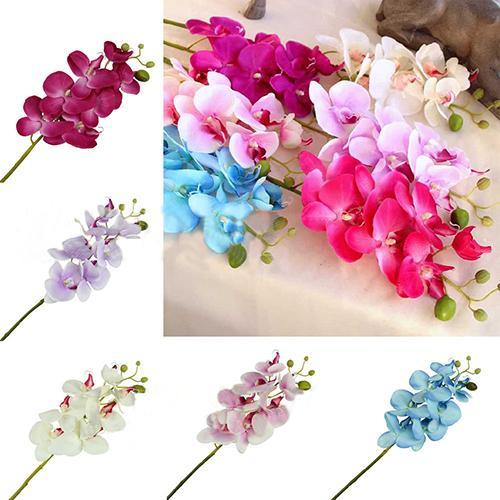 Fashion Artificial Butterfly Orchid Flower Handmade Wedding Flower Decoration Diy wreath Needlework Gift Fake Cloth Flower