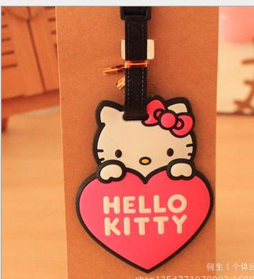 cartoon print Silica luggage tag name card cat pattern student bag CARD
