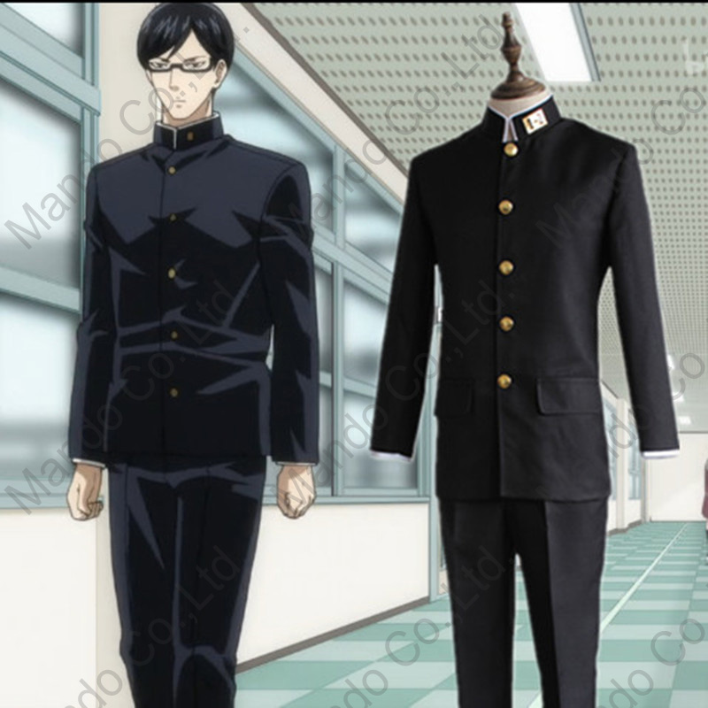 Anime Sakamoto Desu Ga? Sakamoto Cosplay Costumes Boys Japanese School Uniform Suit Mens Halloween Cosplay Fancy Outfit 3pcs