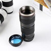 440 ML Yaratıcı Kamera Lens Kahve Çay Seyahat Su Şişesi ısıtıcısı Paslanmaz Çelik Vakum Şişeler Şık Thermocup En Iyi Hediye