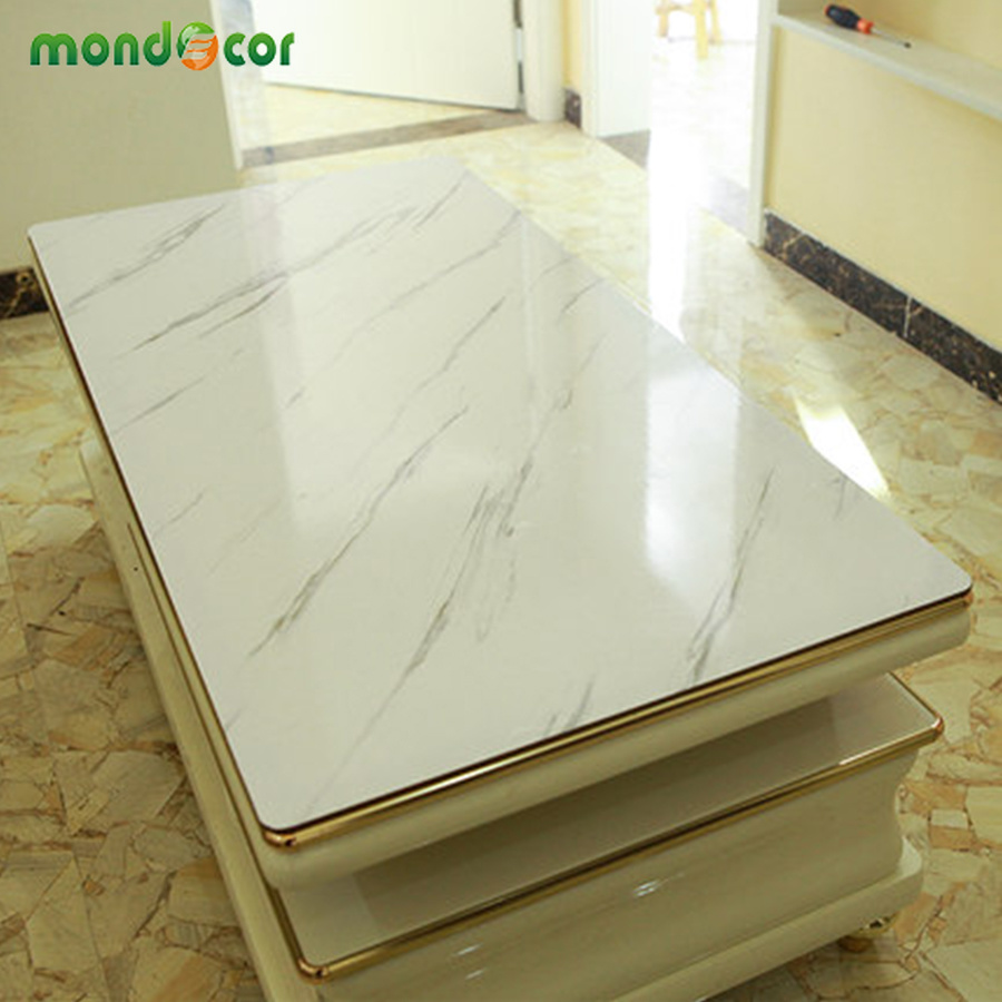 Modern Thick Waterproof Self Adhesive Wallpaper For Furniture Renovation Marble Contact Papers For Bathroom Kitchen Home Decals(China)