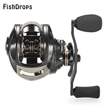 Fishdrops Fishing Reel 7.2:1 Carbon Material Body 167g Fiber Baitcasting 18 BB Fish Carp Left/Right Hand Bait Pesca Fishing Reel