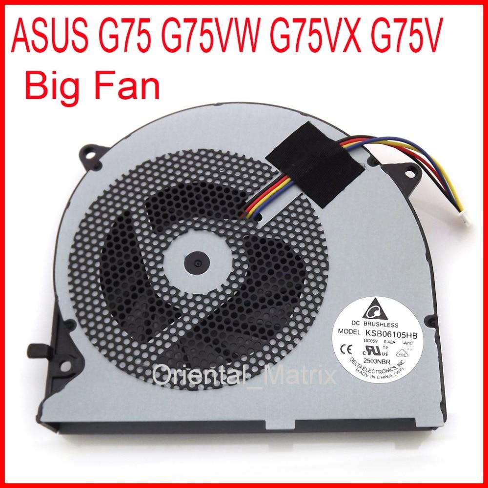 KSB06105HB-AJ10 KSB06105HB Cooler Fan Replacement For ASUS G75 G75VW G75VX G75V Computer Big Cooling Cooler Fan computer cooler radiator with heatsink heatpipe cooling fan for hd6970 hd6950 grahics card vga cooler
