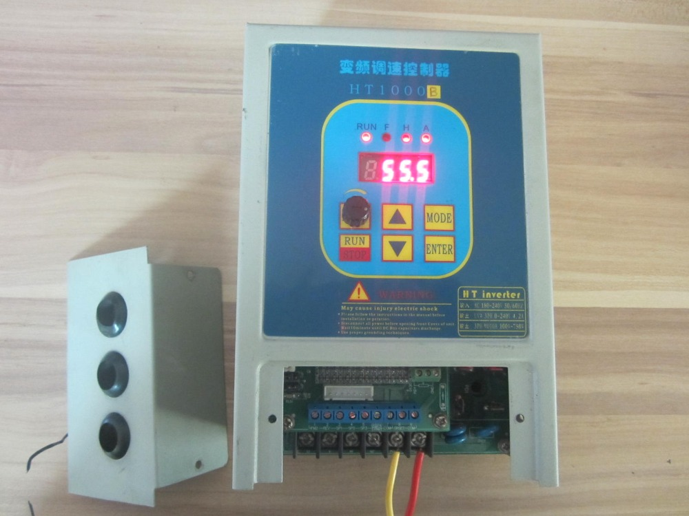 vfd used frequency converter inverter 7a ht1000b 220v 1
