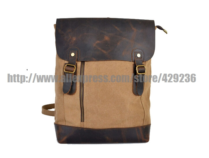 Women's Backpack Leather Canvas School Book Hih Quality Travelling Hiking 6659 - Liang Jeny's store