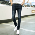 2017 New Fashion Men's Straight Denim Design Jeans Male Trousers Slim Casual Biker Pants Classics Black Trouser