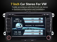 7 Inch Car DVD Player IPod IPhone Player For VW Universal Car Dvd Player Navigation Bluetooth