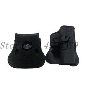 Image 2 - Тактическая охотничья кобура IMI Glock 17 19 ремень с петлей искусственная кобура для пистолета с зажимом для магазина охотничье снаряжение