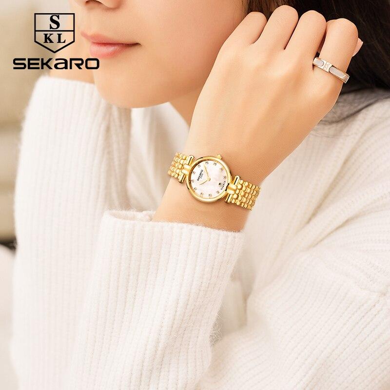 Sekaro Բնական Տիկնայք Ժամացույց Ոսկի - Կանացի ժամացույցներ - Լուսանկար 2