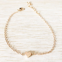 Silver & Gold Plated Heart Bracelet Delicate Simple Silver Chain Bracelet