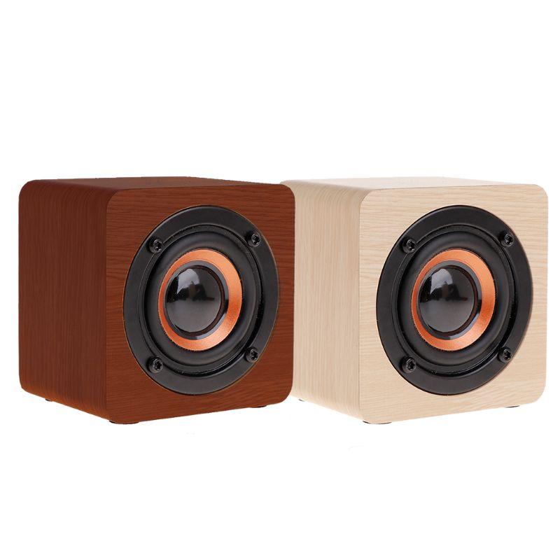 Bluetooth Speaker Mini Wooden Portable Wireless Subwoofer Lo
