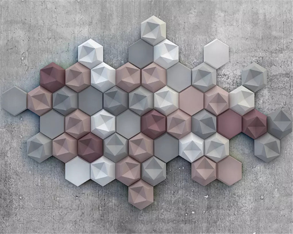 Купить с кэшбэком beibehang Fashion decorative painting interior decoration wallpaper 3D retro diamond background wall papers home decor behang