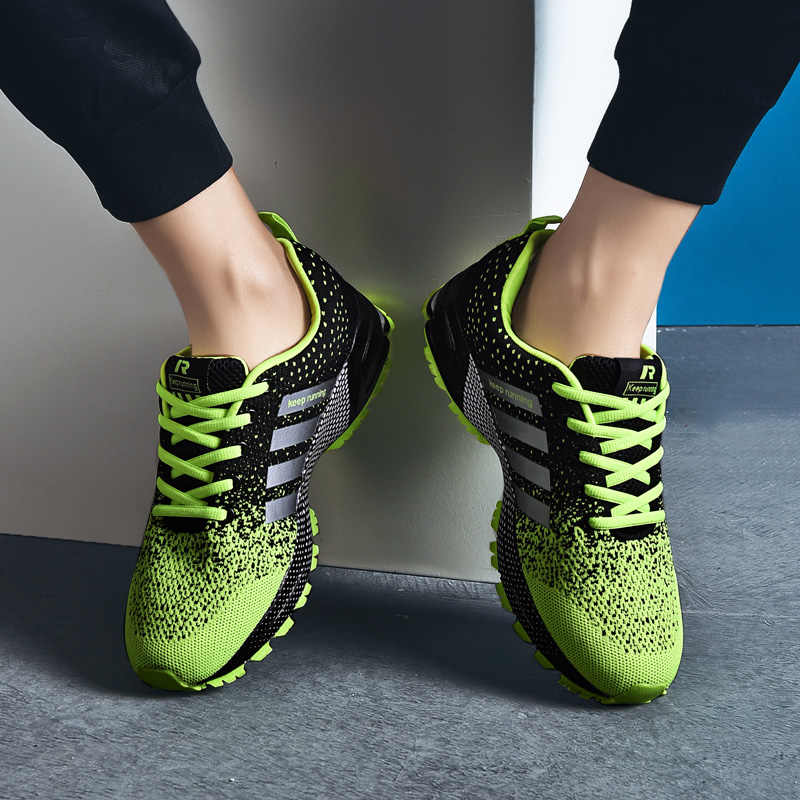 Giày đế bằng Nữ Giày Lưới Giày Nữ Đế Bằng Thoáng Khí Thoải Mái Sneakers Nữ Nhẹ Size Lớn 2019