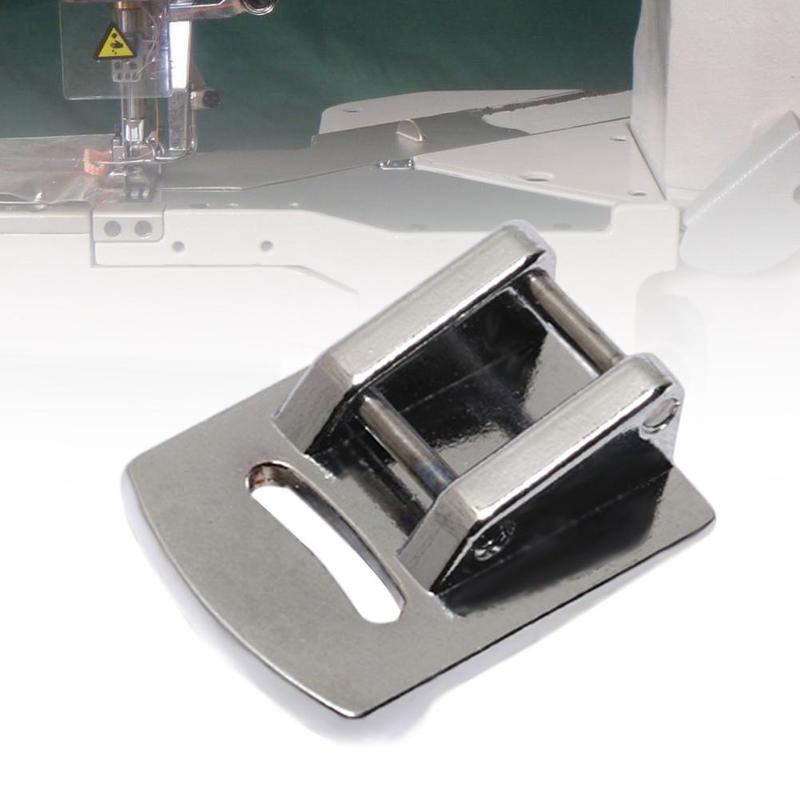 1Pcs Sliver Rolled Hem Curling Presser Foot For Sewing Machine Singer Sewing Accessories Hot Sale