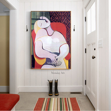 100% Hand Painted Picasso Abstract Oil Painting On Canvas Posters Famous Color Wall Art painting For Living Room Decor