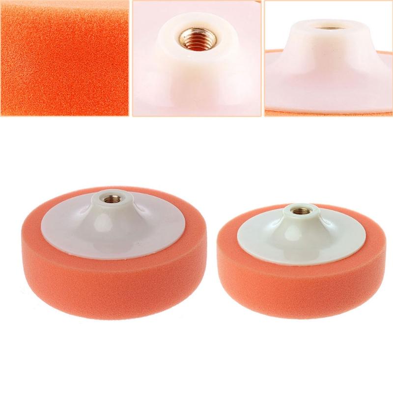14/16cm Car Polishing Buffing Polishing Pad Sponge Wheel Waxing Orange M14/M16 Auto Wash Maintenance Sponges