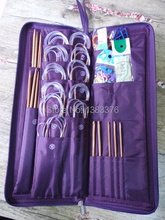 Bamboo Needles Set Knit Weave Ring Stitches Knitting Craft Case Circuler Needle New NEEDLE Stainless Straight 611