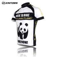 Xintown Panda Cycling Jersey Uomini Downhill Bici Jersey Shirt Estate Manica Corta Squadra Abbigliamento Ciclismo Strada mtb Della Bicicletta Jersey