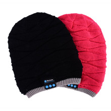 Brand Warm Hat Mini Wireless Speaker Bluetooth Receiver Amplifier Audio Music Speaker Smart Cap Headset Headphone