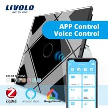 LIVOLO шлюз, система автоматического управления «умный дом» Wi-Fi беспроводной контроллер на смартфон, google Home, aleax Эффект Эхо для работы в сотрудничестве с умным выключателем