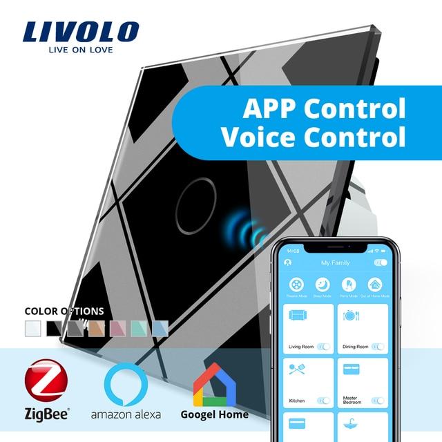 LIVOLO puerta de casa inteligente WiFi inalámbrico controlador por SmartPhone google casa aleax eco. trabajar en colaboración con smart Switch