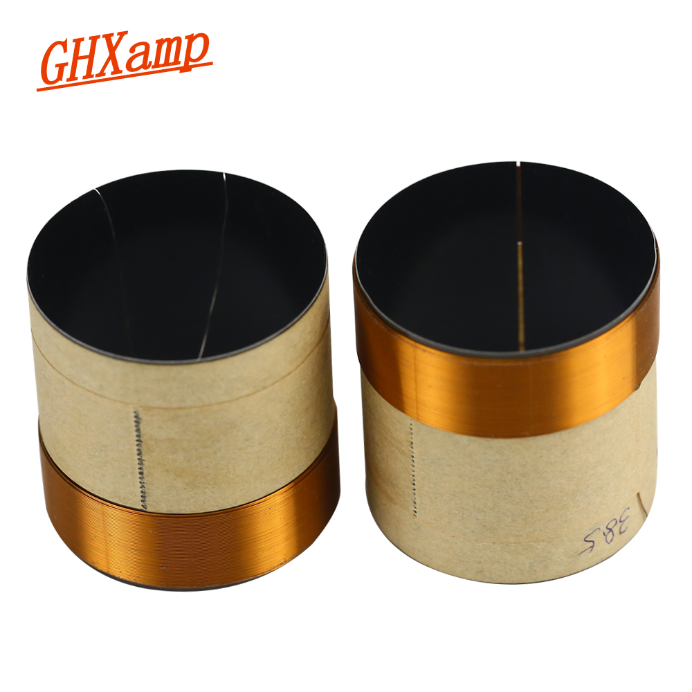 GHXAMP 38.5MM BASS Voice Coil 8OHM BASV Black Aluminum Speaker Repair DIY Height 40MM 1Pairs