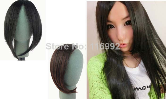Clip in hair braids picture more detailed picture about 1pc free 1pc free shipping kanekalon middle part bang fringe hair extensions instant clip in hair bang hair pmusecretfo Choice Image
