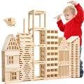 Brinquedos Educacionais do bebê 100 Pcs Natureza de Madeira Conjunto de Brinquedos De Madeira Blocos de Construção de Jogos Interativos de Luxo de Presente de Aniversário