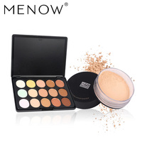 MENOW Brand Make Up Set Professional 15 Color Concealer Palette Smooth Loose Powder Waterproof Whole Sale