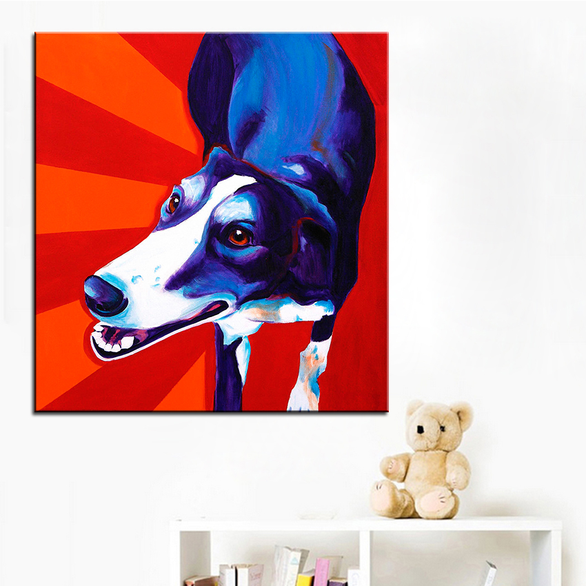 Large size Print Oil Painting greyhound evie Wall painting Home Decorative Wall Art Picture For Living Room paintng No Frame