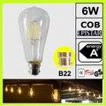120 В 220 В 230 В 2 УПАК. 6 Вт LED старинные лампы накаливания лампы прозрачное стекло filamento bombilla B22 штык ST64 ST19 ГАРАНТИЯ 2 ГОД