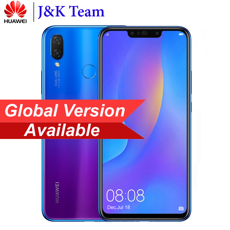 "Huawei Nova 3i Global Version 4GB 128GB Smartphone 6.3"" 2340*1080pix 24MP 4 Camera Kirin 710 3340mAh Mobile phone New Arrive"