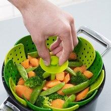 Lotus Plus Falten kratzfestem Dampfer Legen, PP, Küche Kochwerkzeug Kochgeschirr Für Obst, Gemüse Steamer korb K023