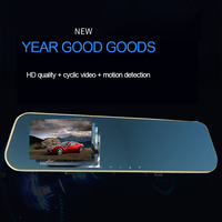Car Rearview Mirror Driving Recorder Blue Single Lens High-definition Digital Video Night Vision Wide-angle FHD 1080P Car DVR