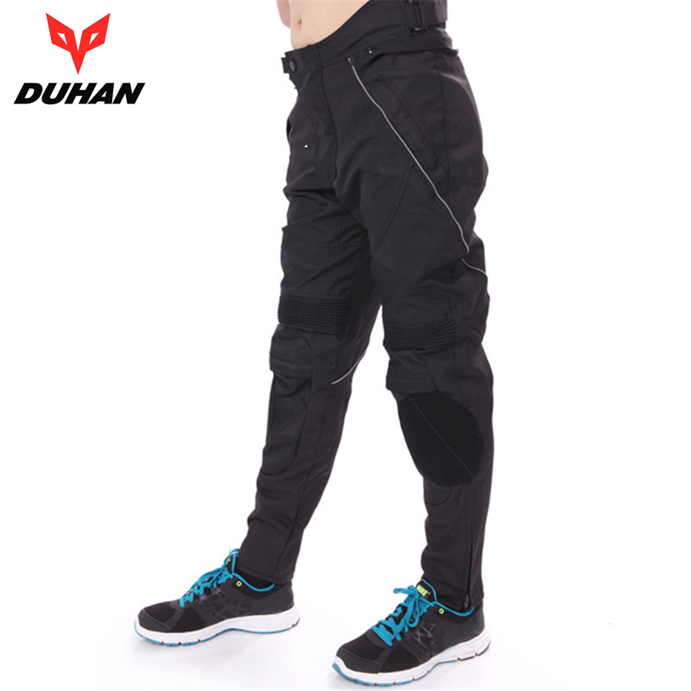 DUHAN Men's Motorcycle Riding Trousers Motocross Off-Road Racing Pants Trousers Motorcycle Hip Protector Long Pants DK-06