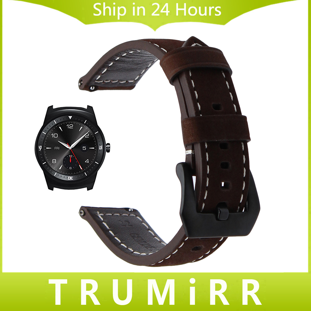 22mm Quick Release Watchband for LG G Watch Urbane AsusZenWatch 1 2 Men WI500Q WI501Q Amazfit Italian Genuine Leather Band Strap