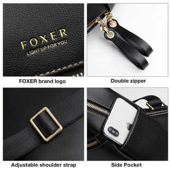 FOXER 2019 Businesswomen Commuter Style Backpack Female Big Capacity Backpack Laptop For Teenagers Leather Backpack Fashion Bags