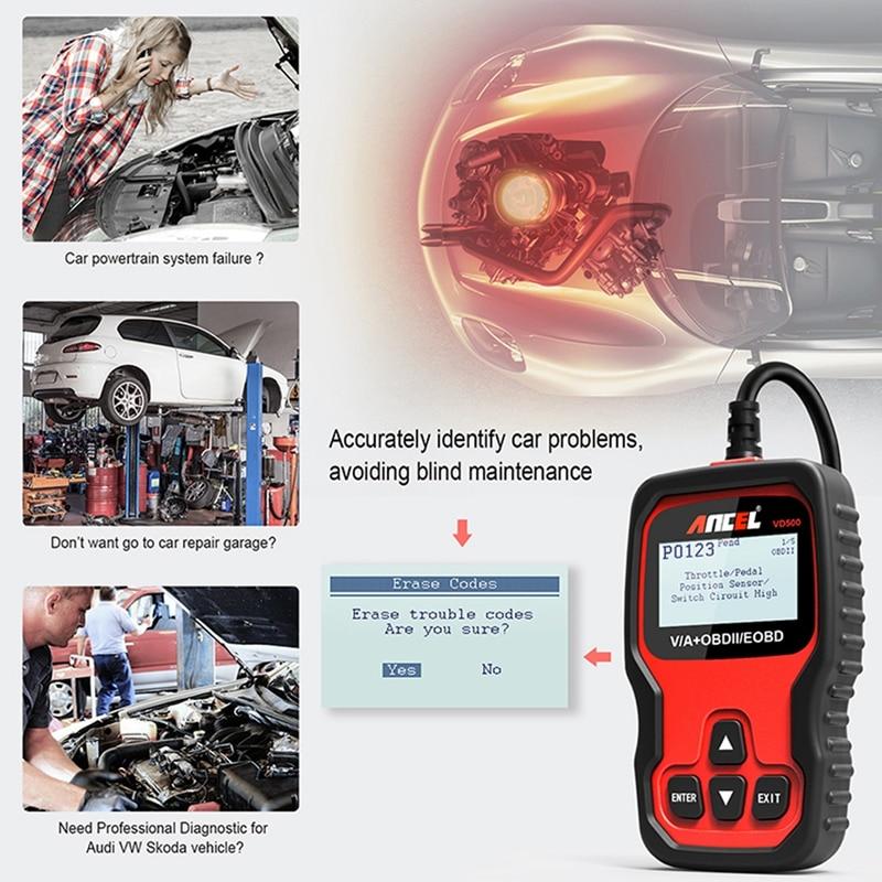 Airbag Reset Service reseter d/'Outil OBD 2 II pour VW AUDI SEAT SKODA obd2 9