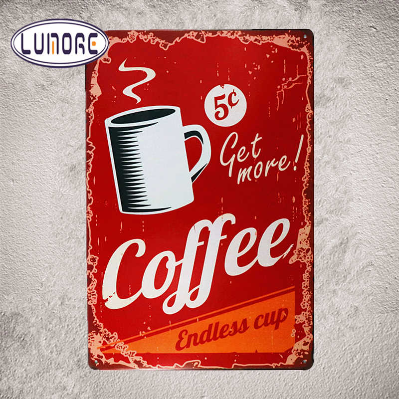 Get More Coffee Metal Tin signs House Wall Poster Restaurant Cafe Lounge Bar Decor  20*30cm