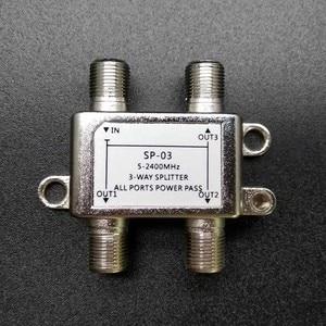 Image 3 - 2018 5 2400MHz 3 way splitter high frequency satellite signal power splitters Satellite TV Receiver For SATV / CATV design