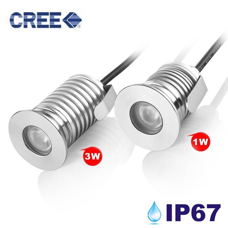 Free Shipping 12pcs/lot 1w Led Underground Lamps Garden Led Spot Lamp Ip67 Dc12v-24v Ce&rohs Led Underground Lamps