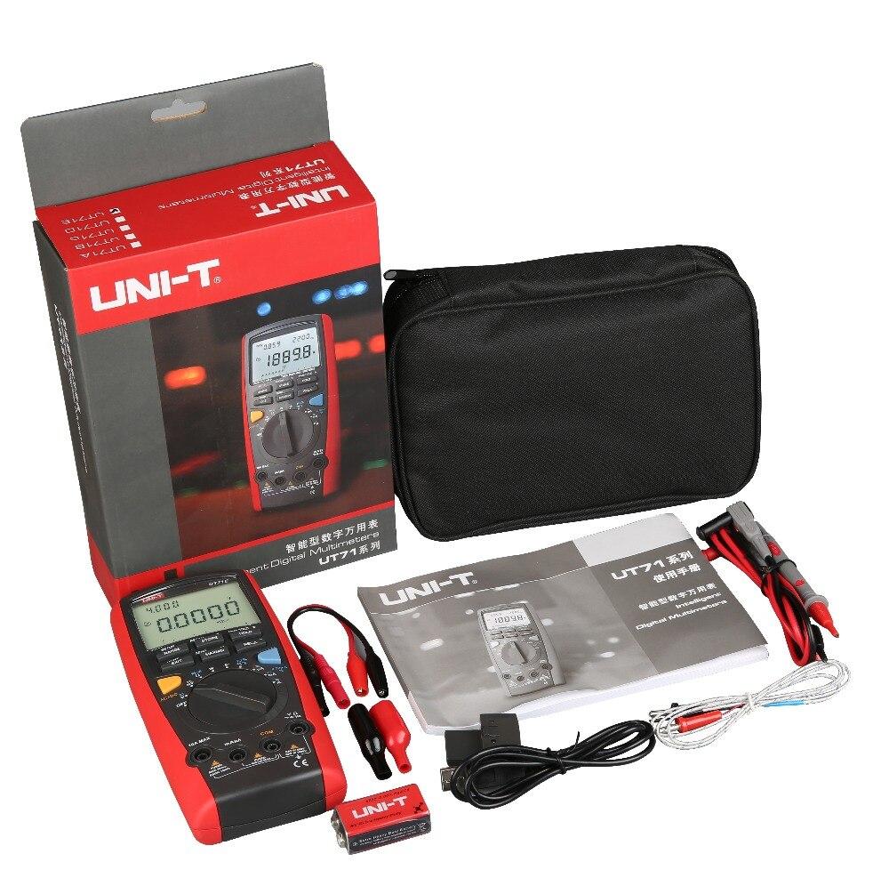 Uni t UT71E medidor DMM Volt medidor UT 71E Auto RMS verdadeiro multimetro Digital inteligente in Multimeters from Tools