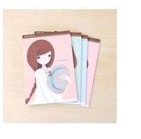 Hàn quốc yêu văn phòng phẩm lãng mạn thẩm mỹ trang màu thư cô gái giấy 72 tờ/bộ/giảm giá bán buôn/miễn phí vận chuyển