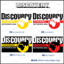 1PC DISCOVERY CHANNEL 580mm graphic Vinyl sticker for car badges detailing decals with KK SIGN VINYLS