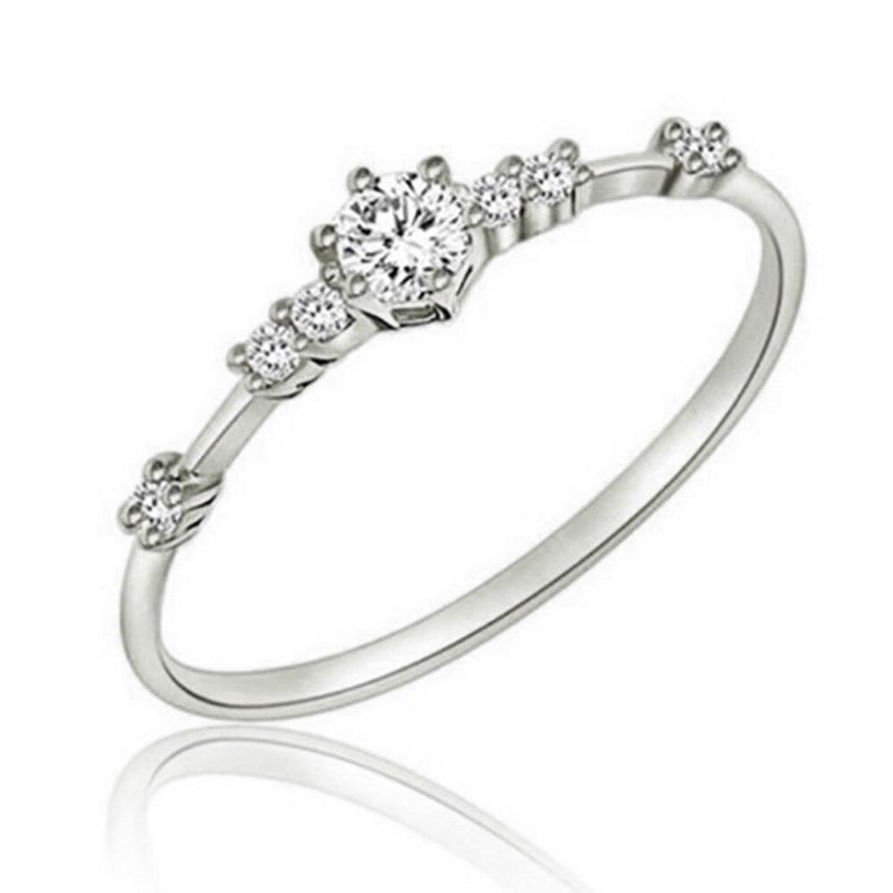 Модное Сверкающее циркониевое серебряное кольцо для женщин, цветочное сердце, корона, кольца на палец, фирменное кольцо, ювелирное изделие, Прямая поставка - Цвет основного камня: 31