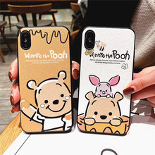 Cute Couple 3d Emboss Bear Pattern Phone Cover Case For Iphone X Xs Max Xr 10 8 7 6 6s Plus Luxury Soft Silicone Coque Fundas